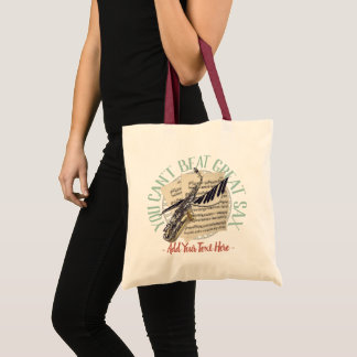 Funny Saxophone Player Tote Bag