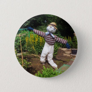 Funny scarecrow 2 inch round button