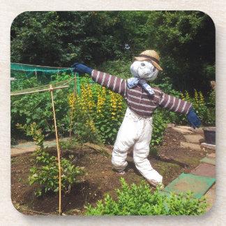 Funny scarecrow coaster