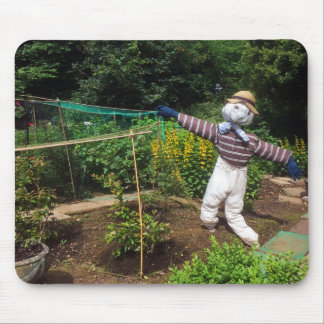 Funny scarecrow mouse pad