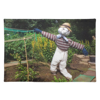 Funny scarecrow placemat