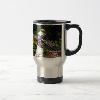 Funny scarecrow travel mug