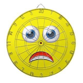 Funny Scared Emoji Dartboard