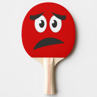 Funny Scared Face Novelty Ping Pong Paddle