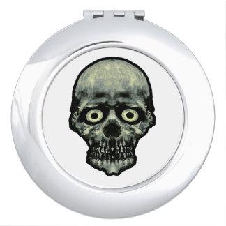Funny Scared Skull Artwork Compact Mirror
