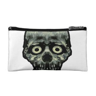 Funny Scared Skull Artwork Makeup Bag