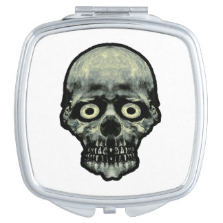 Funny Scared Skull Artwork Makeup Mirror