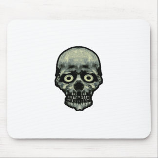 Funny Scared Skull Artwork Mouse Pad