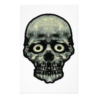 Funny Scared Skull Artwork Stationery