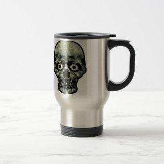 Funny Scared Skull Artwork Travel Mug