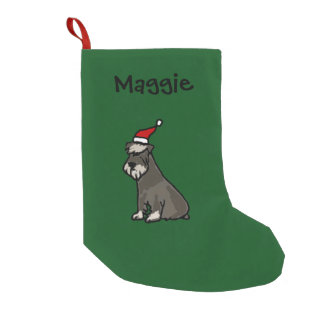 Funny Schnauzer Christmas Stocking