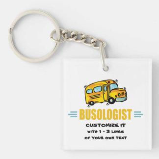 Funny School Bus Keychain