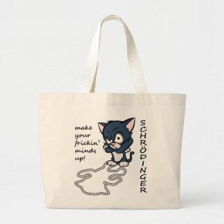 Funny Schrodinger's Cat Large Tote Bag