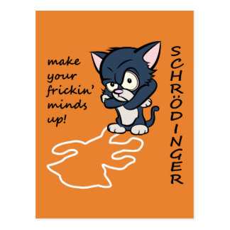 Funny Schrodinger's Cat Postcard