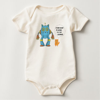Funny Science And Engineering Feline Kitten Baby Bodysuit