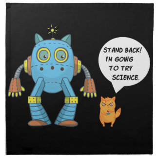Funny Science And Engineering Feline Kitten Napkin