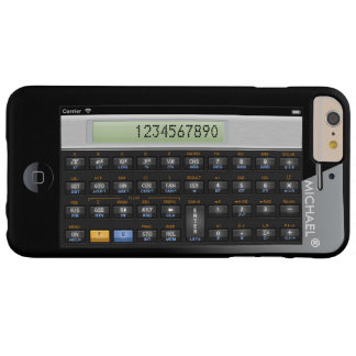 Funny Science Calculator Personalized Geeky Barely There iPhone 6 Plus Case