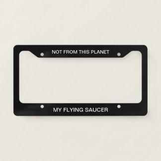 Funny Science Fiction Design License Plate Frame