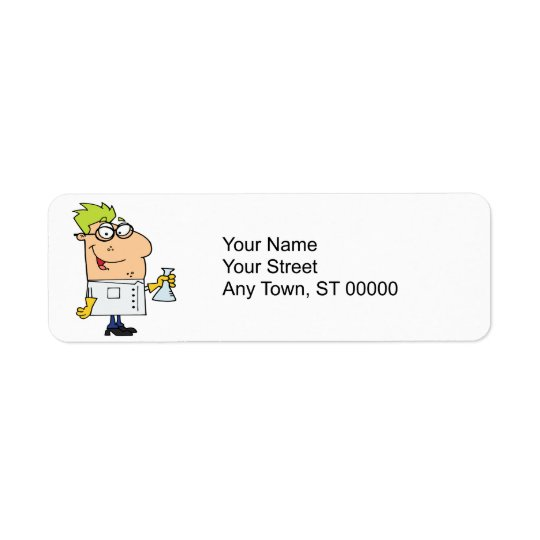 funny science nerd cartoon character