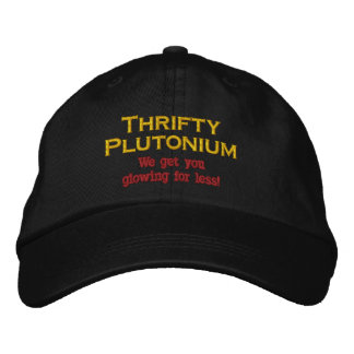 Funny Science Nuclear Plutonium hat atomic Humor Embroidered Baseball Cap
