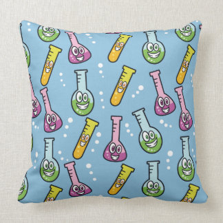 Funny Science Pattern throw pillows