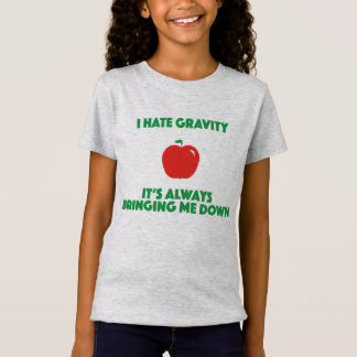 Funny science shirt kids gravity