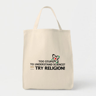 Funny Science VS Religion Tote Bags