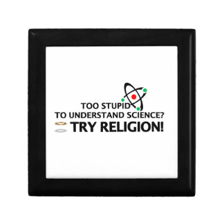 Funny Science VS Religion Keepsake Box