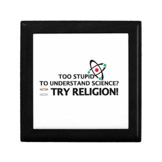 Funny Science VS Religion Keepsake Box