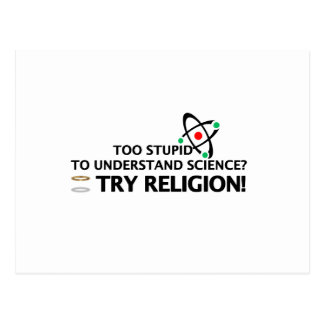 Funny Science VS Religion Postcard