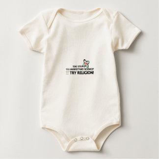 Funny Science VS Religion Baby Bodysuit