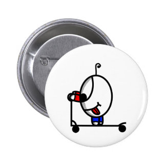 funny scooter dude 2 inch round button