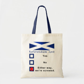 Funny Scottish Referendum Tote Bag