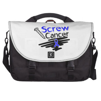 Funny Screw Colon Cancer Commuter Bags