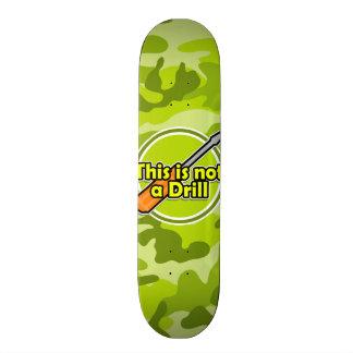 Funny Screwdriver bright green camo camouflage Skate Board Decks