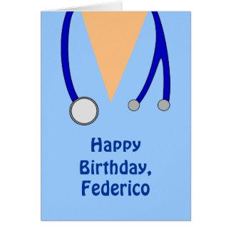Funny Scrubs Nurses Whimsical Happy Birthday Card