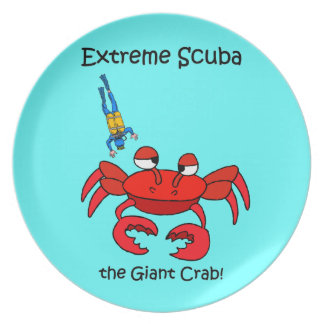 funny scuba diving party plates
