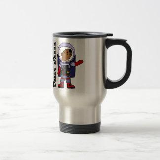 Funny Sea Otter Astronaut in Space Suit Cartoon Travel Mug