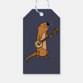 Funny Sea Otter Playing Banjo Gift Tags