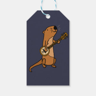 Funny Sea Otter Playing Banjo Pack Of Gift Tags