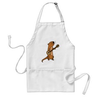 Funny Sea Otter Playing Banjo Standard Apron