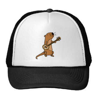 Funny Sea Otter Playing Banjo Trucker Hat