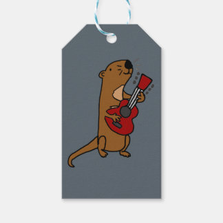 Funny Sea Otter Playing Guitar Gift Tags