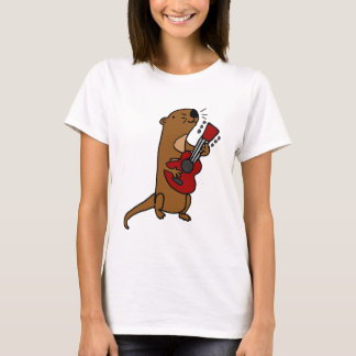 Funny Sea Otter Playing Guitar T-Shirt
