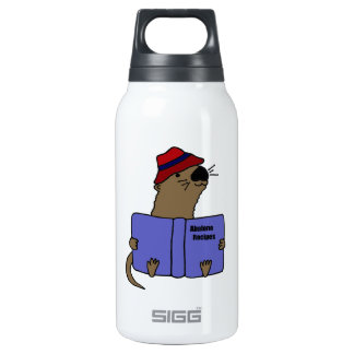 Funny Sea otter Reading Abalone Recipe Book SIGG Thermo 0.3L Insulated Bottle