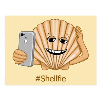 Funny Sea Shell Shellfie Smartphone Selfie Postcard