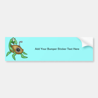 Funny Sea Turtle Car Bumper Sticker