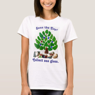 """Funny """"Seas the Day! Collect Sea Glass"""" Tree"""