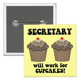 funny secretary 2 inch square button