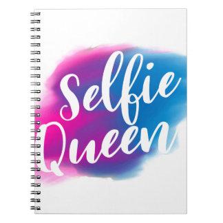 Funny Selfie queen Spiral Notebook